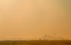 城市烟雾 库存图片