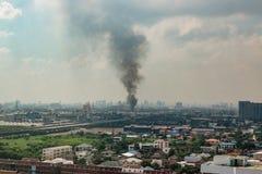 城市烧伤 库存照片