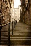 城市爱丁堡苏格兰步骤 免版税库存照片