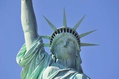 城市特写镜头自由新的雕象约克 免版税图库摄影