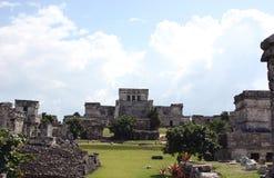城市玛雅tulum 免版税库存图片