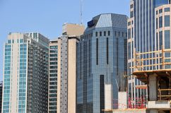 城市现代地平线美国 免版税库存照片