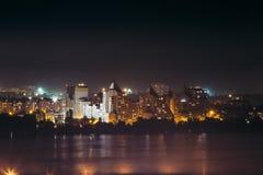 城市现代晚上 免版税库存图片