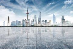 城市现代地平线 库存图片