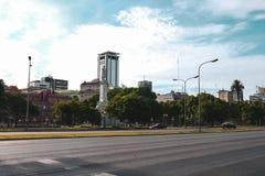 城市生活和街道视图在布宜诺斯艾利斯 图库摄影