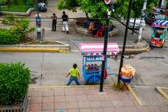 城市生活在墨西哥 免版税库存图片