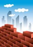 城市生长 向量例证