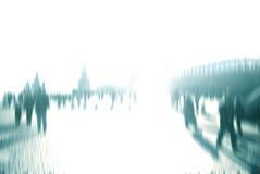 城市生活一被弄脏的说明imange在莫斯科 库存图片