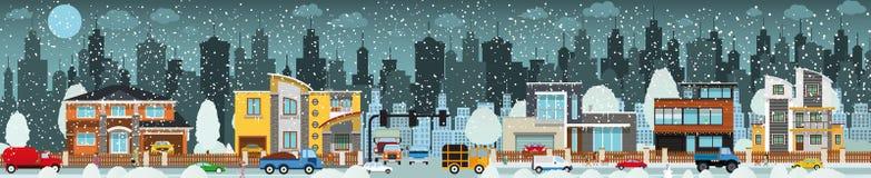 城市生活(冬天) 库存照片