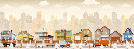城市生活(冬天) 库存图片
