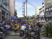 城市生活在海口,海南岛,中国 免版税库存图片
