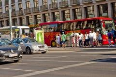城市生活在维也纳,奥地利 免版税库存照片