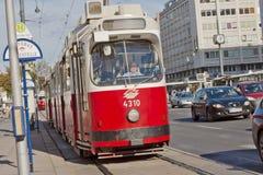 城市生活在维也纳,奥地利 库存图片