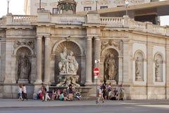 城市生活在维也纳,奥地利 免版税库存图片