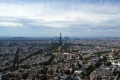 城市白天法国巴黎地平线 库存图片