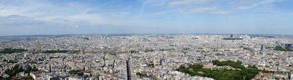 城市白天法国巴黎地平线 免版税库存照片