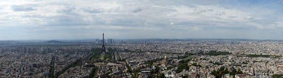 城市白天法国巴黎地平线 图库摄影