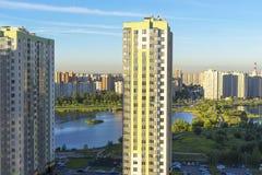 城市的住宅区的类型 免版税图库摄影