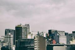 城市的住宅和商业大厦 免版税库存照片