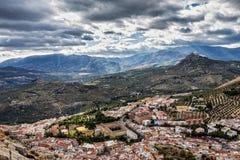 城市的全景从圣卡塔利娜城堡的, ta 库存图片