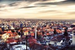 城市的全景 免版税库存图片