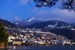 城市的全景Geneva湖的 库存图片