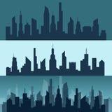城市的剪影 库存图片