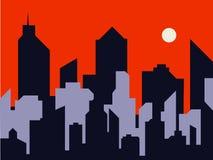 城市的剪影 免版税图库摄影