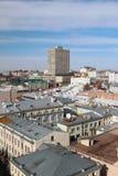 城市的历史的中心,顶视图 喀山俄国 库存图片