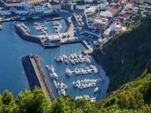 城市的图象有habour的在大西洋 免版税库存图片