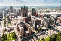 城市的圣路易斯风景veiw 免版税库存照片