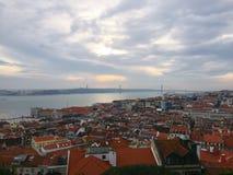 城市的地平线上面 库存照片