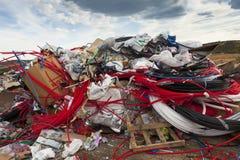 城市的垃圾堆 免版税库存照片