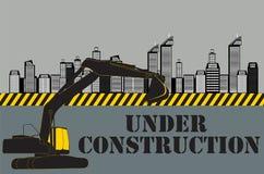 城市的大厦 建设中 向量 图库摄影