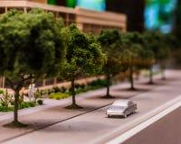 城市的小雕象模型 免版税库存图片