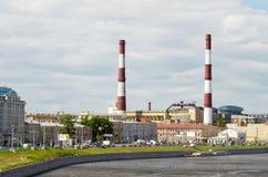 城市的工厂区 免版税库存照片