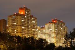 城市的日落 免版税库存照片