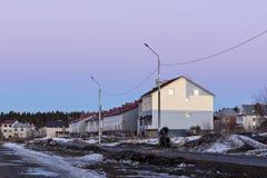 城市的村庄地区 免版税库存照片