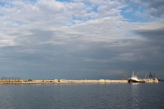 城市的海边 库存图片