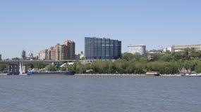 城市的看法从为2018年世界足联建造的一个新的公园的 免版税图库摄影