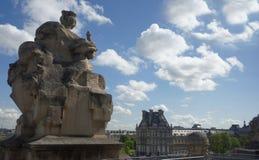 城市的看法从罗浮宫的顶楼的 图库摄影