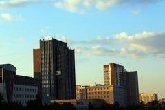 城市的看法在一个晴天 图库摄影