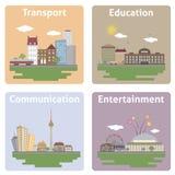 城市的视图 免版税图库摄影
