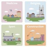 城市的视图 免版税库存图片