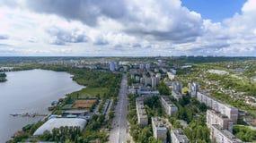 城市的视图 库存图片