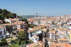 城市的里斯本视图 库存图片