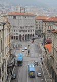 城市的里雅斯特,意大利都市风景  库存照片