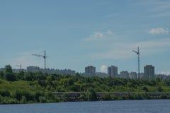 城市的风景堤防的 库存照片