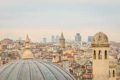 城市的风景,伊斯坦布尔,土耳其 免版税库存图片