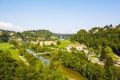 城市的绿地风景  免版税库存照片